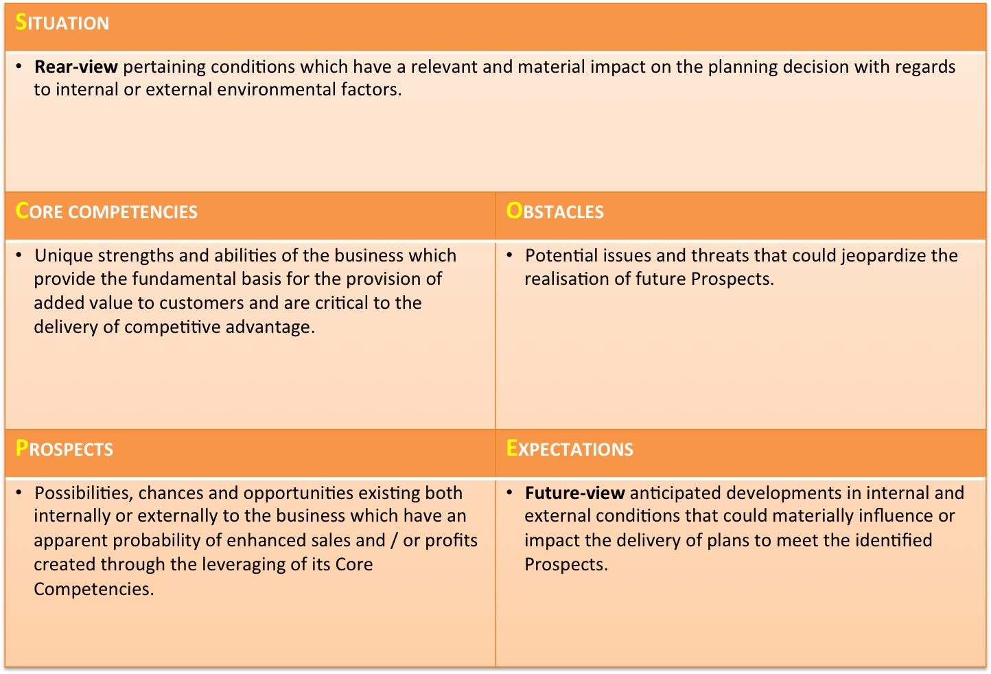 business plan critical analysis outline